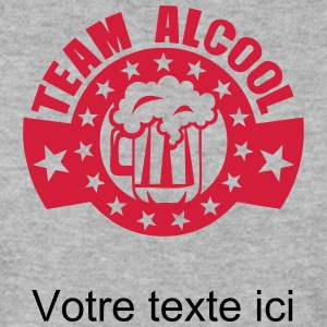 ajouter texte team alcool biere logo Sweat-shirts - Sweat-shirt Homme