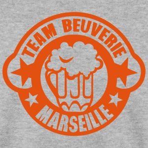 marseille team beuverie biere logo Sweat-shirts - Sweat-shirt Homme