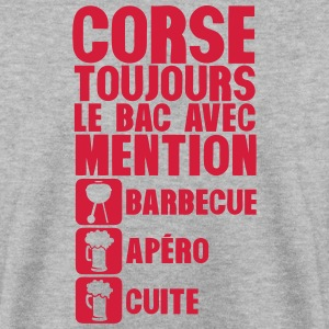 corse mention bac barbecue apero cuite 1 Sweat-shirts - Sweat-shirt Homme