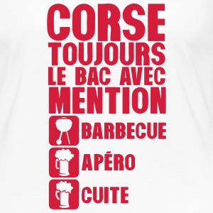 corse mention bac barbecue apero cuite 1 Manches longues - T-shirt manches longues Premium Femme