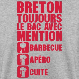 breton mention bac barbecue apero cuite Sweat-shirts - Sweat-shirt Homme