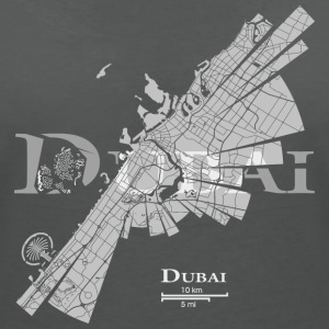 Dubai Map T-Shirts - Women's V-Neck T-Shirt