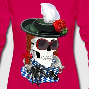 munich-skull girl Long Sleeve Shirts - Women's Premium Longsleeve Shirt