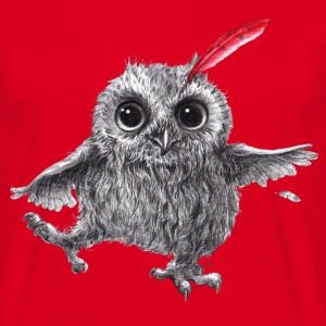 Chief Red - Happy Owl - T-shirt Homme