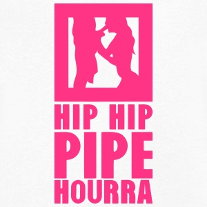 hip hip pipe hourra 1 Tee shirts - T-shirt Homme col V