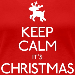 Keep Calm Christmas T-Shirts - Frauen Premium T-Shirt