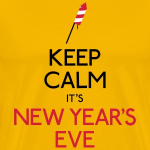keep calm new year holde ro nyttår T-skjorter - Premium T-skjorte for menn