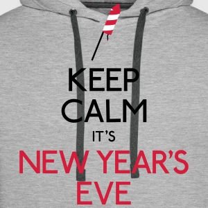keep calm new year holde ro nyttår Gensere - Premium hettegenser for menn