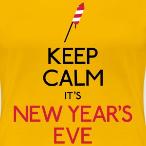 keep calm new year holde roligt nytår T-shirts - Dame premium T-shirt
