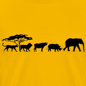 Big Five in de savanne T-shirts - Mannen Premium T-shirt