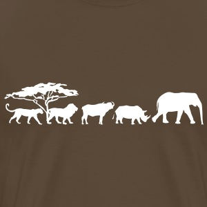 Big Five på savannen T-shirts - Herre premium T-shirt