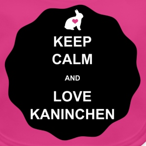 KEEP CALM and LOVE KANINCHEN - Baby Bio-Lätzchen