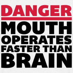 Mouth Faster Than Brain  T-shirts - Herre-T-shirt