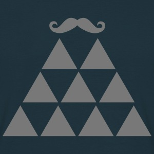 Pyramid Moustache T-Shirts - Men's T-Shirt