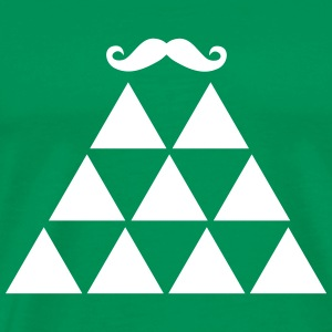 Pyramid Moustache T-Shirts - Men's Premium T-Shirt