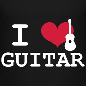 I Love Guitar T-shirts - Teenager premium T-shirt