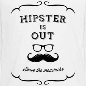 Hipster and mustache are out! Shave! Long Sleeve Shirts - Teenagers' Premium Longsleeve Shirt