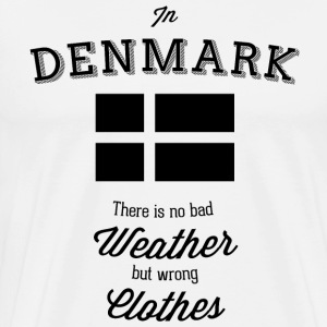 In Denmark, there are no bad weather T-Shirts - Men's Premium T-Shirt
