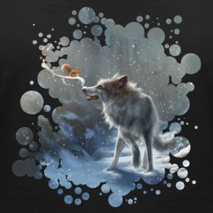 Black winter wolf T-Shirts - Women's V-Neck T-Shirt