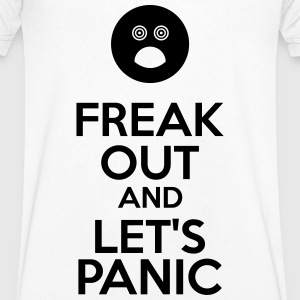 Freak Out And Let's Panic T-Shirts - Men's V-Neck T-Shirt
