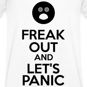 Freak Out And Let's Panic Koszulki - Koszulka męska Canvas z dekoltem w serek