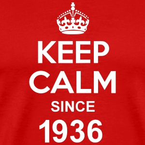 Keep Calm Since 1936 T-skjorter - Premium T-skjorte for menn