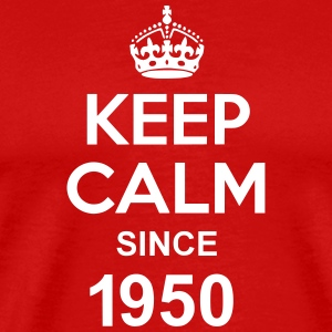 Keep Calm Since 1950 T-skjorter - Premium T-skjorte for menn