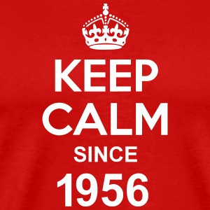 Keep Calm Since 1956 T-skjorter - Premium T-skjorte for menn