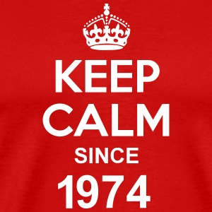 Keep Calm Since 1974 T-shirts - Herre premium T-shirt