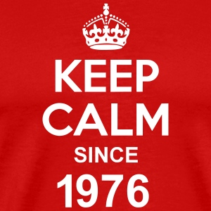 Keep Calm Since 1976 T-skjorter - Premium T-skjorte for menn