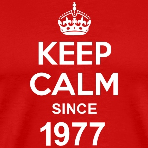 Keep Calm Since 1977 T-skjorter - Premium T-skjorte for menn