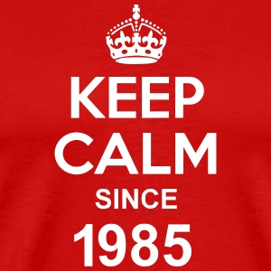 Keep Calm Since 1985 T-shirts - Herre premium T-shirt