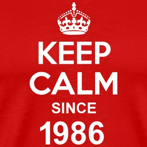 Keep Calm Since 1986 T-skjorter - Premium T-skjorte for menn