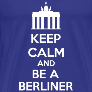 Keep Calm And Be A Berliner T-shirts - Herre premium T-shirt