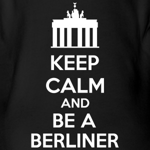 Keep Calm And Be A Berliner T-shirts - Kortærmet babybody, økologisk bomuld