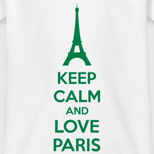 Keep Calm And Love Paris T-shirts - T-shirt barn