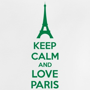 Keep Calm And Love Paris Skjorter - Baby-T-skjorte