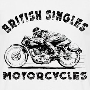 Blanc british motorcycles Tee shirts - T-shirt Homme