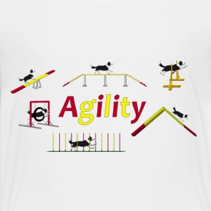 Agility equipment with Titel.png Skjorter - Premium T-skjorte for tenåringer