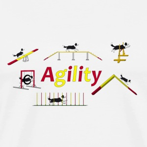 Agility equipment with Titel.png T-shirts - Premium-T-shirt herr