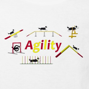 Agility equipment with Titel.png Shirts - Kinderen Bio-T-shirt