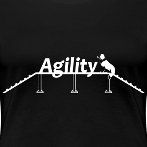 Agility bridge with Schrift.svg T-shirts - Premium-T-shirt dam