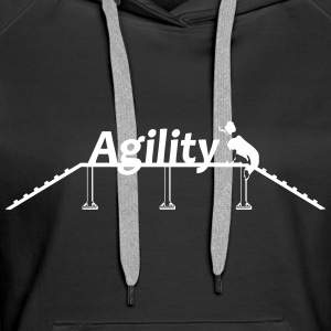 Agility bridge with Schrift.svg Bluzy - Bluza damska Premium z kapturem