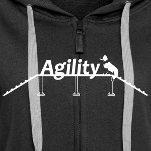 Agility bridge with Schrift.svg Felpe - Felpa con zip premium da donna