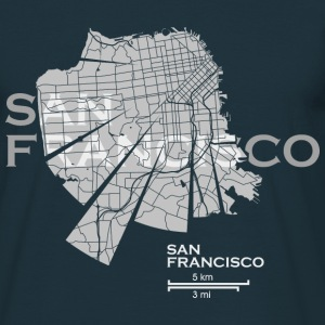 San Francisco Map T-Shirts - Men's T-Shirt