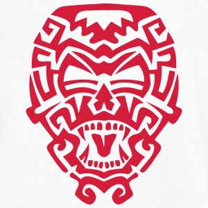 masque azteque monstre totem 1108 Tee shirts - T-shirt Homme col V