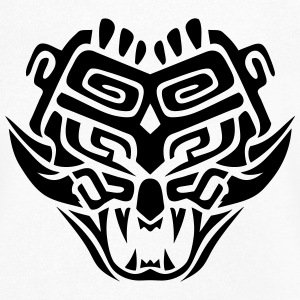 masque azteque monstre totem 1104 Tee shirts - T-shirt Homme col V