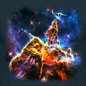 Mystic Mountain, Carina Nebula, Space, Galaxy, T-shirts - Herre-T-shirt