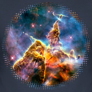 Mystic Mountain, Carina Nebula, Space, Galaxy, T-Shirts - Men's Slim Fit T-Shirt