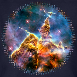 Mystic Mountain, Carina Nebula, Space, Galaxy, T-shirts - Organic mænd